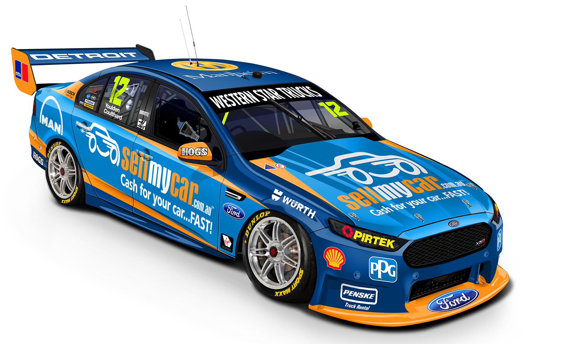 Fabian Coulthard livery Gold Coast 2016 2