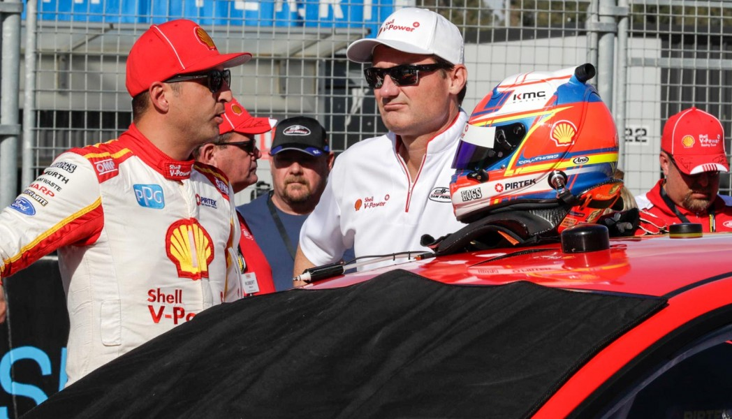 Tim Cindric with Fabian Coulthard in Perth