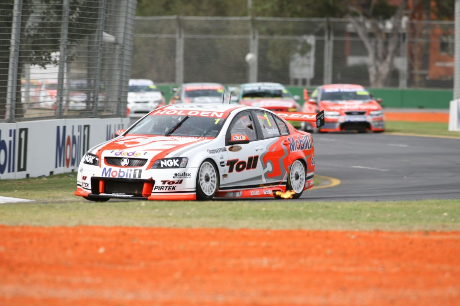 Garth Tander of the Holden Racing Team during the non-championship Round at the, Australian Grand Prix at the Albert Park circuit, Melbourne, Victoria, March 14, 2008.