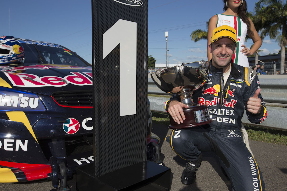 Jamie Whincup of Red Bull Racing Australia during the Darwin, Event 06 of the 2014 Australian V8 Supercars Championship Series at the Hidden Valley Raceway, Darwin, Northern Territory, July 05, 2014.