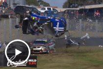 Sandown's biggest Turn 6 crashes