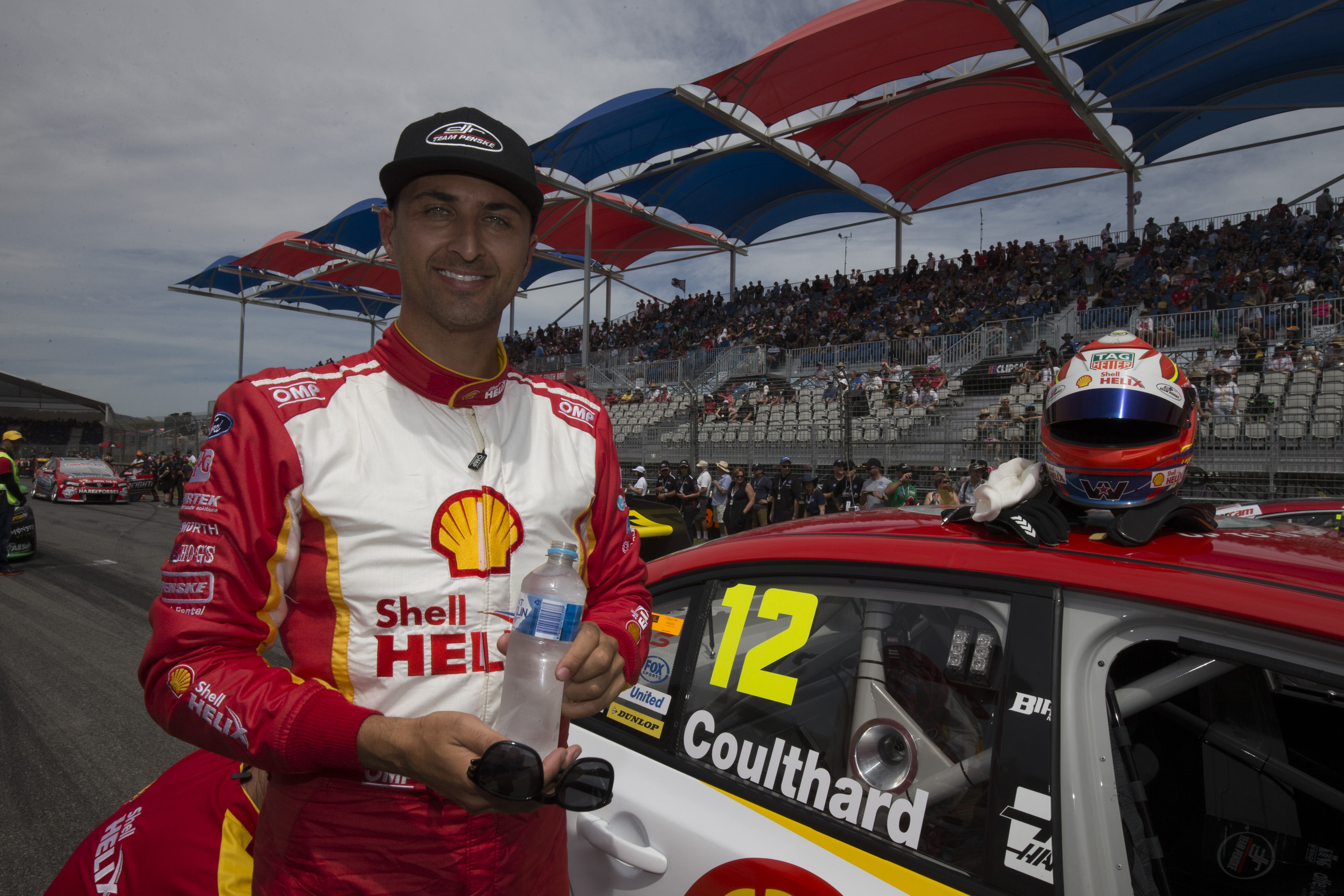 Fabian Coulthard of Team DJR Penski during the Clipsal 500,  at the Adelaide Street Circuit, Adelaide, South Australia, March 05, 2016.