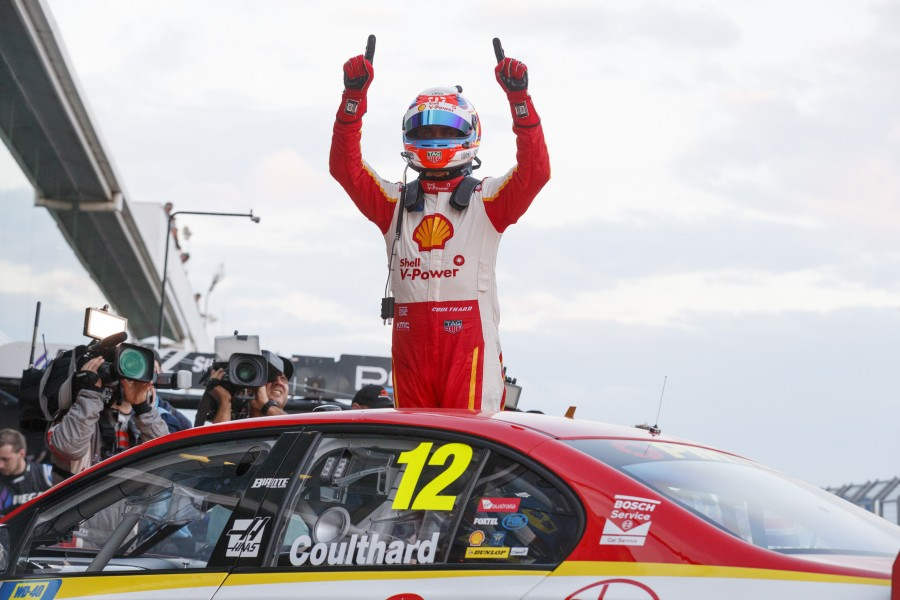 Fabian Coulthard of DJR Team Penske during the WD-40 Phillip Island 500,  at the Phillip Island Grand Prix Circuit, Phillip Island, Victoria, April 22, 2017.