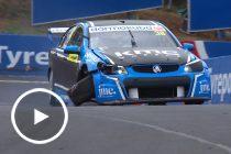 Brown's horror Super2 race ends in crash