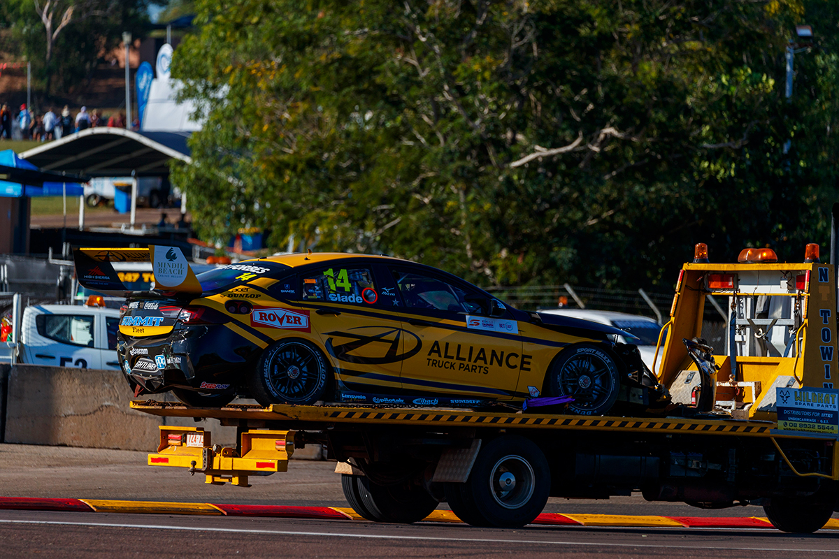 Crashed Slade chassis returns to action | Supercars