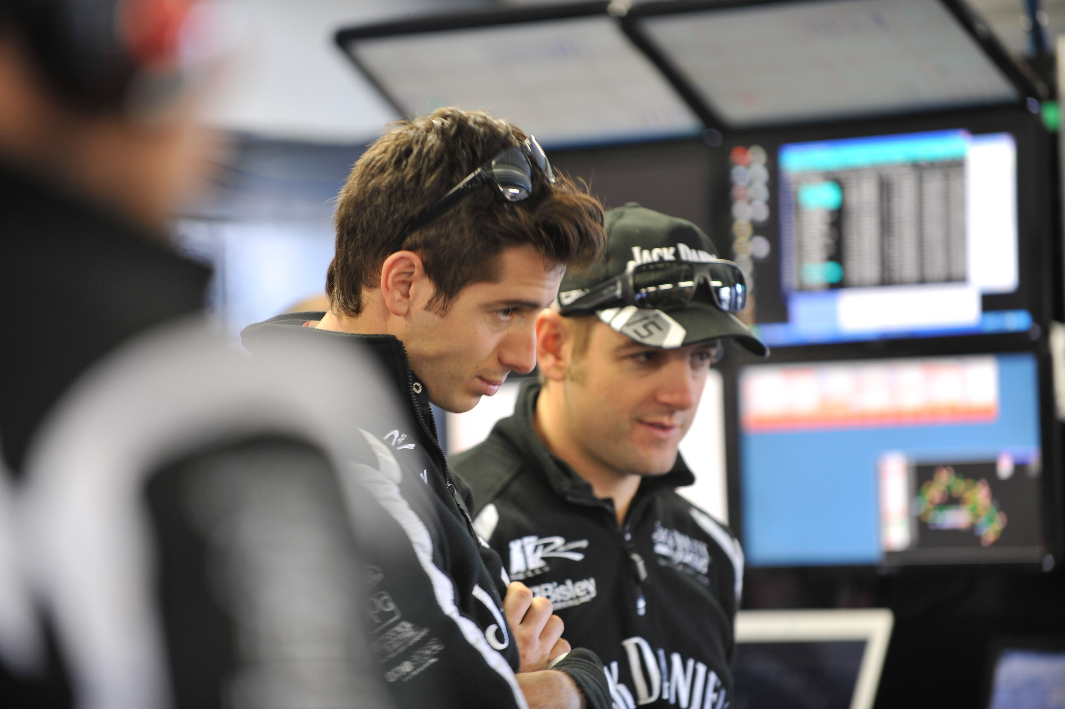 Rick Kelly and Todd Kelly of the Jack Daniel's Racing team during the Phillip Island 300, event 05 of the 2012 V8 Supercars Championship at the Phillip Island Grand Prix Circuit, Phillip Island, Victoria, May 18, 2012.
