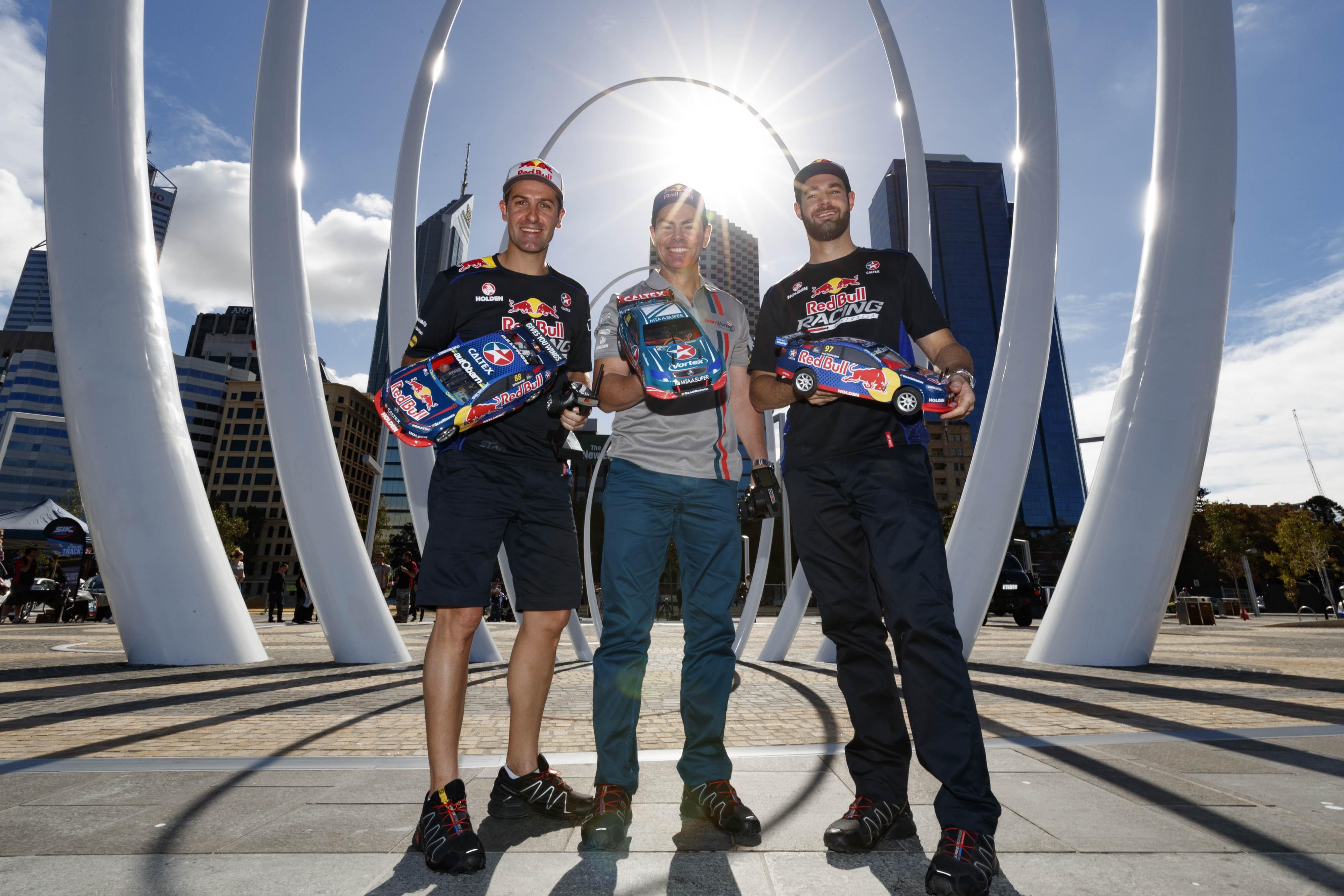 Red Bull drivers Elizabeth Quay 2016
