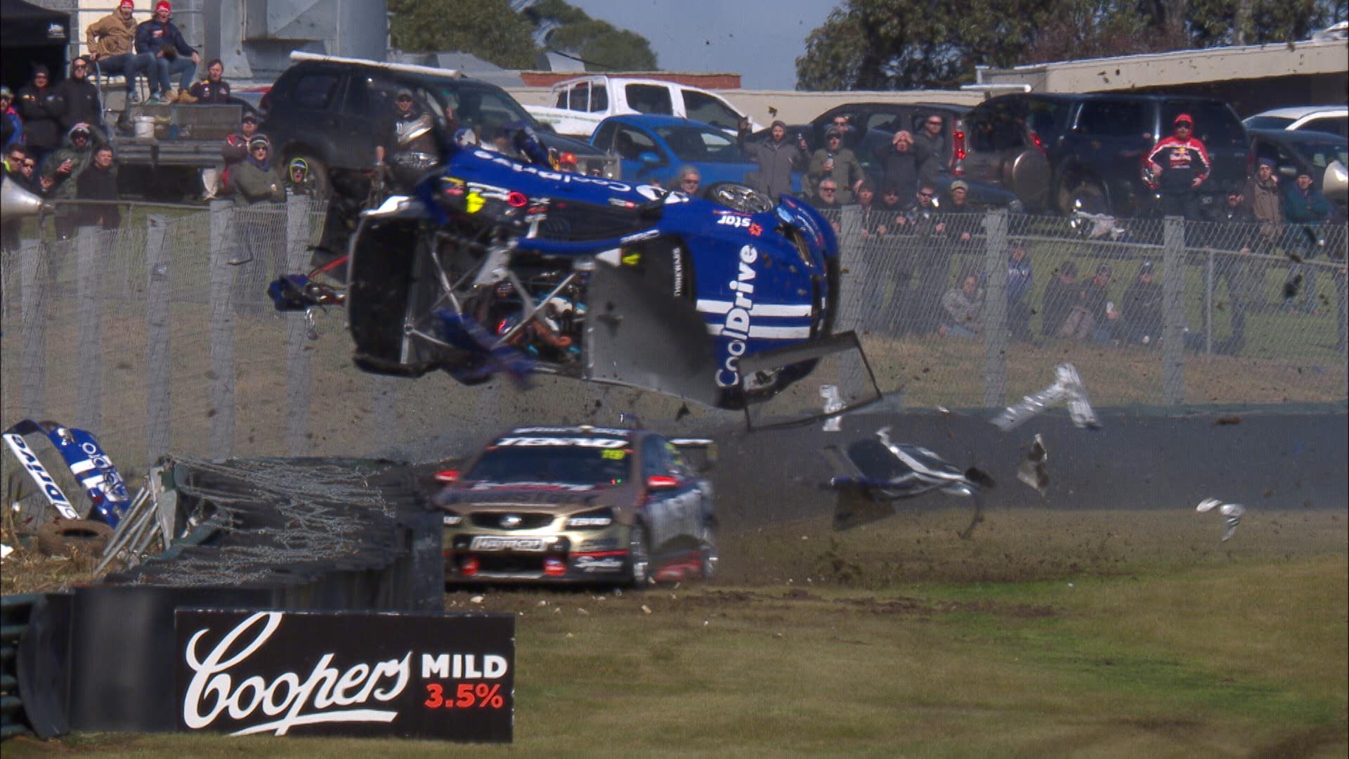 Todd Hazelwood crashes at Sandown