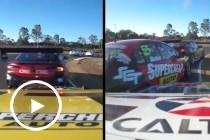 Onboard: Whincup barges past Mostert