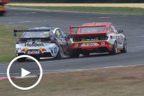 Van Gisbergen and Shell drivers battle at rejoin