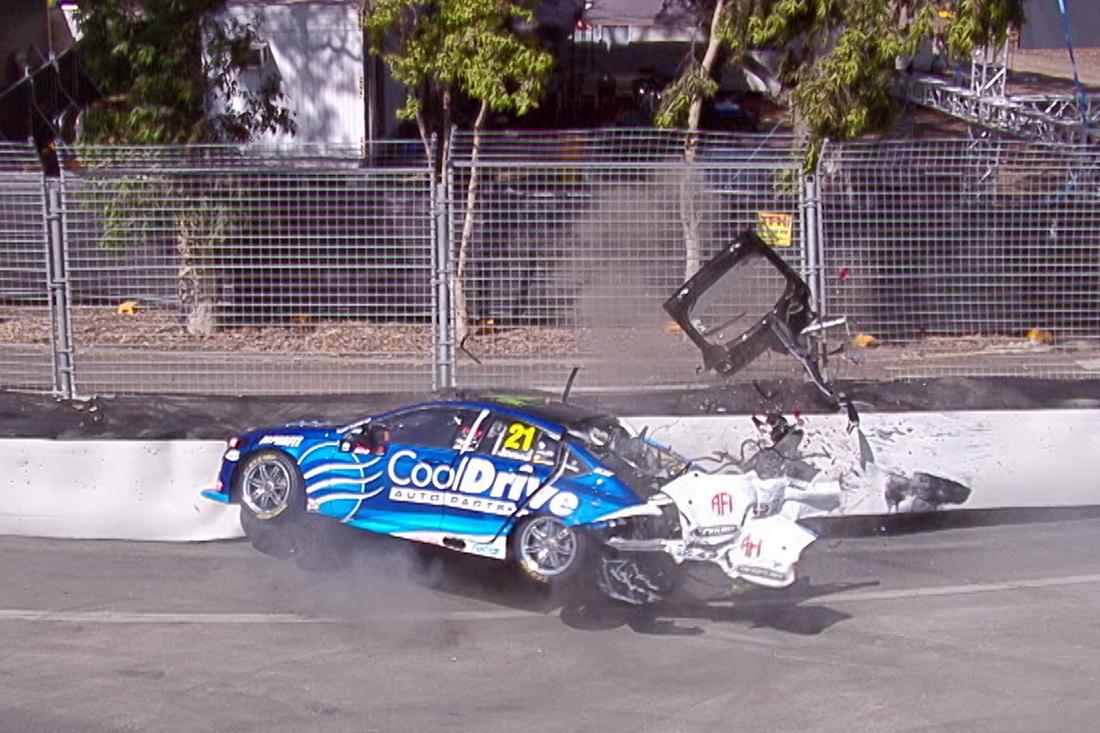 Mclaughlin Fastest Jones Crash Ends Session Supercars