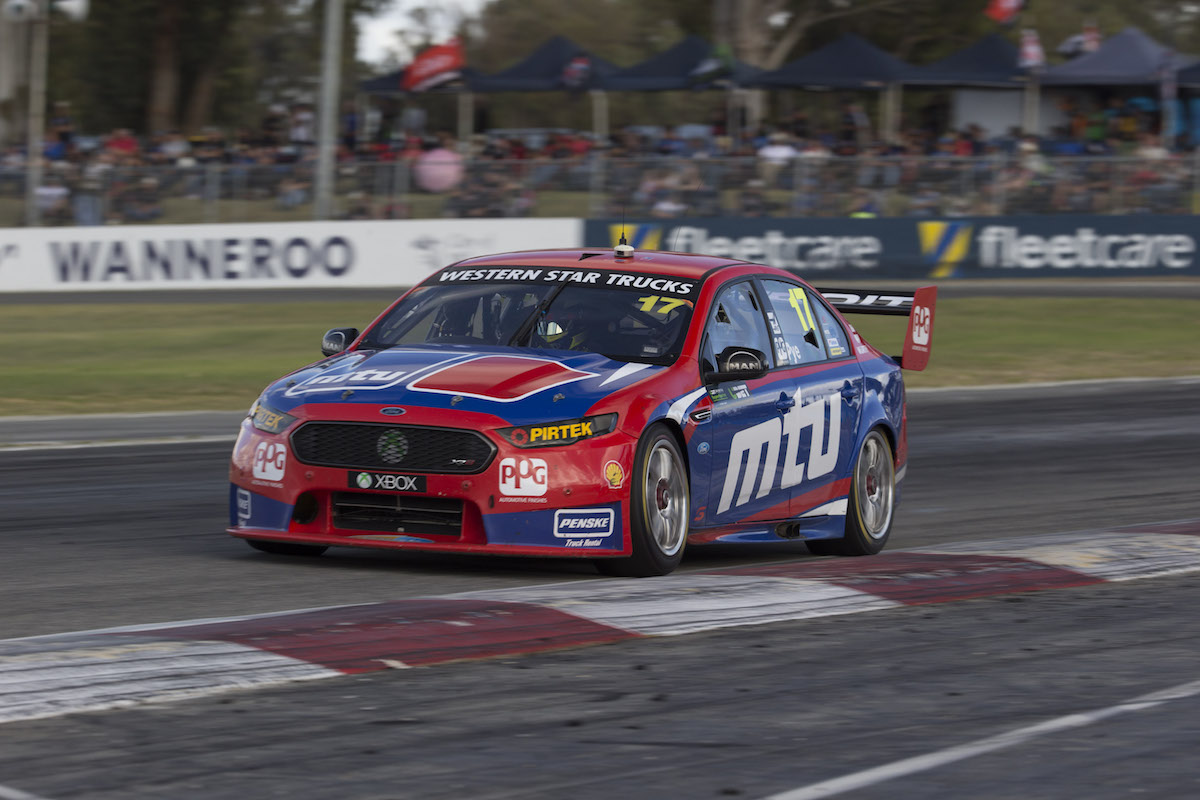Scott Pye of DJR Team Penske during the UBET Perth SuperSprint, Event 03 of the 2015 Australian V8 Supercar Championship Series at the Barbagallo Raceway, Perth, Western Australia, May 03, 2015.