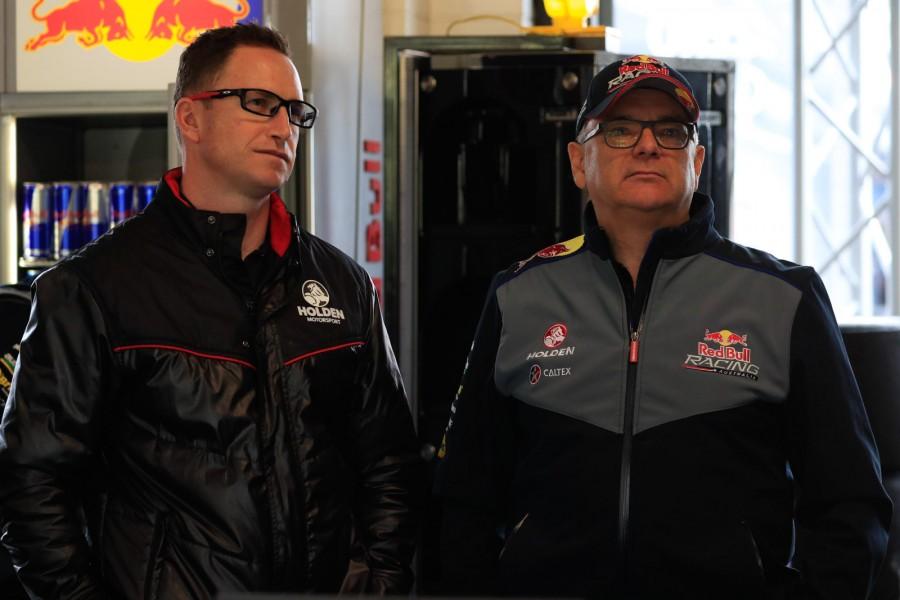 Dane and McNamara together at Sydney Motorsport Park last year.