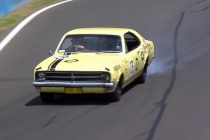 Lowndes almost crashes classic Monaro