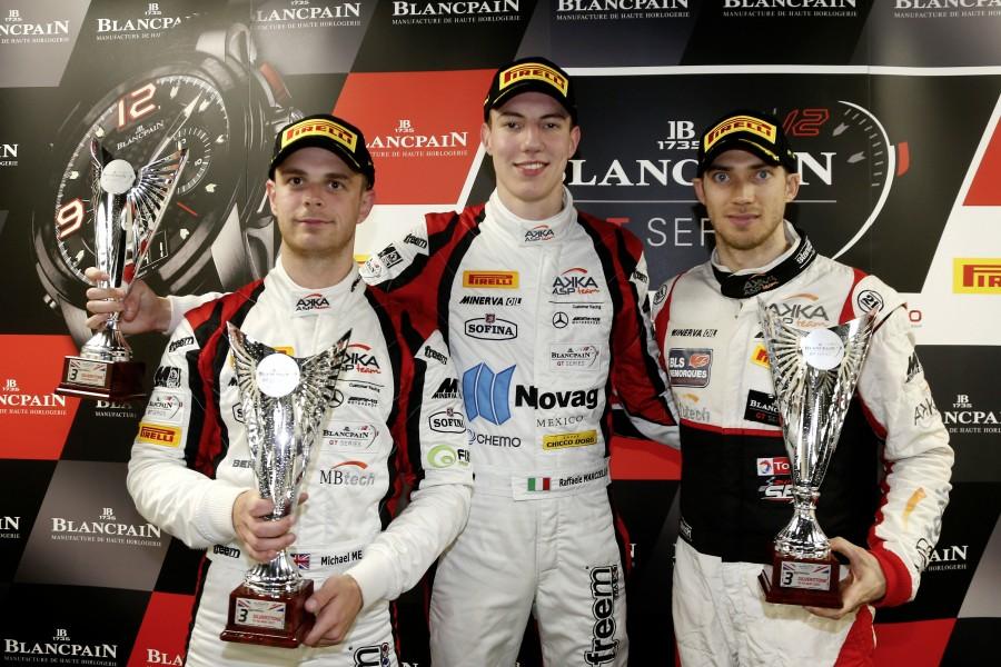 Blancpain GT Series Endurance Cup: P3 overall; Michael Meadows, Raffaele Marciello, Edoardo Mortara; AKKA ASP #90