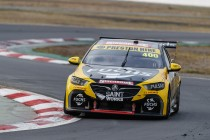 Preston Hire Holden damaged in testing crash