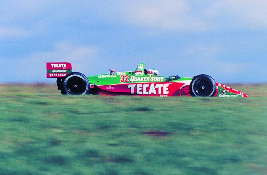 Crompton testing a Tasman Motorsports IndyCar