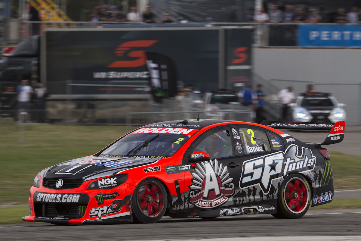 Garth Tander of the Holden Racing Team during the UBET Perth SuperSprint, Event 03 of the 2015 Australian V8 Supercar Championship Series at the Barbagallo Raceway, Perth, Western Australia, May 02, 2015.
