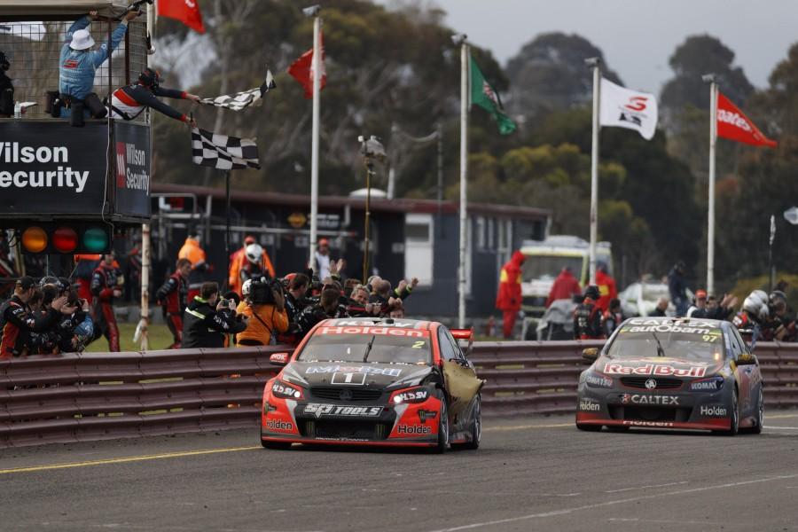 Garth Tander of the Holden Racing Team during the Wilson Security Sandown 500,  at the Sandown International Motor Raceway, Melbourne, Victoria, September 18, 2016.