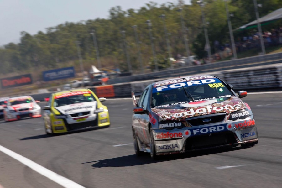 V8 Supercars Race 3 action at the SKYCITY Triple Crown, Hidden Valley, Darwin
