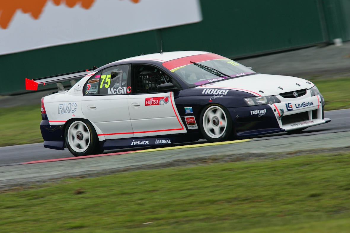 Fujitsu V8 Supercar practice at the Midas 400, Sandown Raceway- from Sleuth