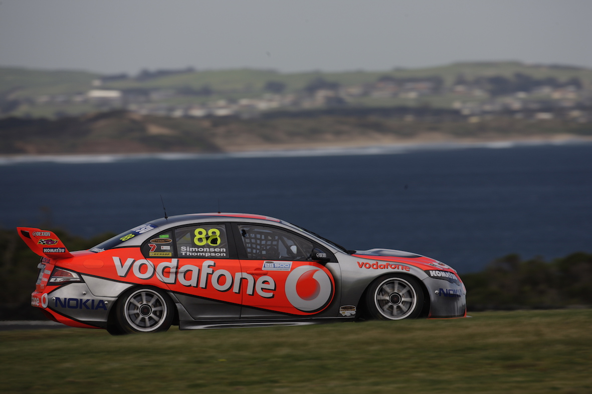 V8 Supercars take to the Phillip Island Grand Prix Circuit for Friday practice sessions at the L&H 500, Phillip Island