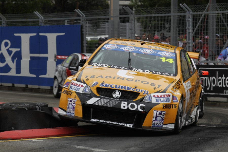 Jason Bright of Brad Jones Racing during the Sydney Telstra 500 Grand Finale, event 14 of the 2010 Australian V8 Supercar Championship Series at the Homebush Street Circuit, Sydney, New South Wales, December 04, 2010.