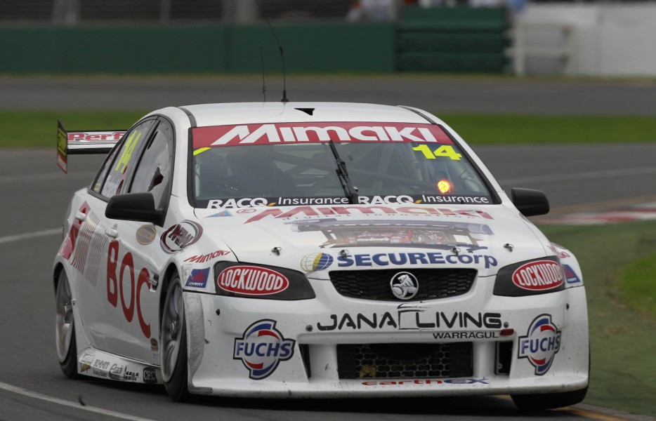 Richards during his final Supercars start in 2011