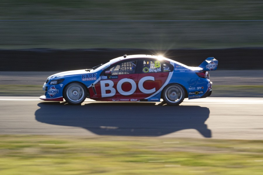 Jason Bright of Brad Jones Racing during the Sydney Motor Sport Park SuperSprint,  at the Sydney Motor Sport Park, Sydney, New South Wales, August 22, 2015.