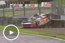 Flashback: Redress puts Coulthard on his roof