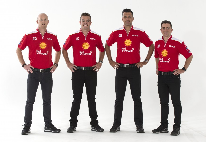 2018 Pirtek Enduro Cup Driver Line-Up (L to R) Alex Premat, Scott McLaughlin, Fabian Coulthard & Tony D'Alberto