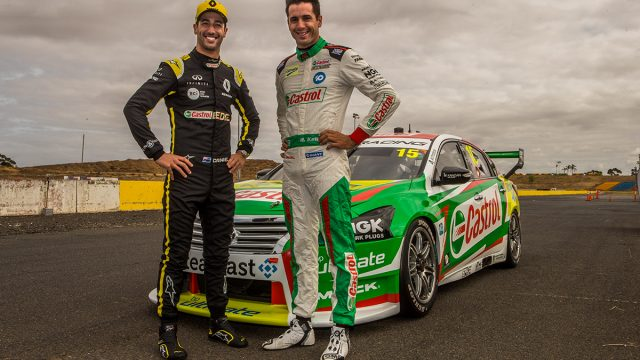 Ricciardo drives Kelly's Supercar