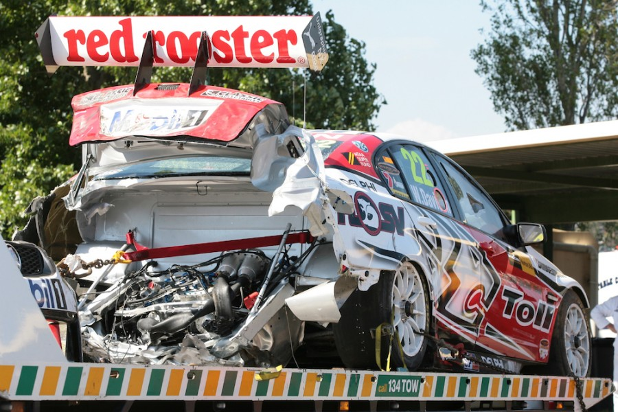 The aftermath of Davison's 2010 crash