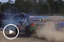 Massive rollover in SuperUtes race