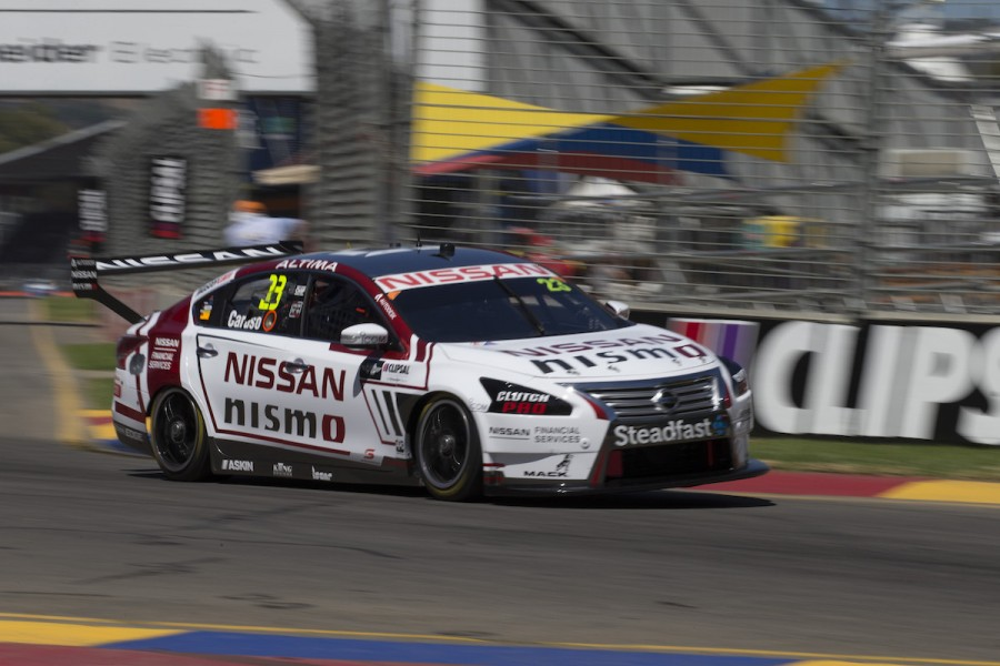 Michael Caruso of the Nissan Motorsport during the Clipsal 500,  at the Adelaide Street Circuit, Adelaide, South Australia, March 04, 2016.
