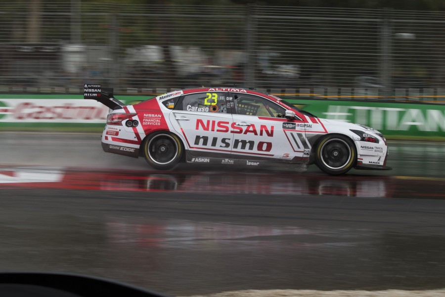 Michael Caruso of the Nissan Motorsport during the Clipsal 500,  at the Adelaide Street Circuit, Adelaide, South Australia, March 06, 2016.