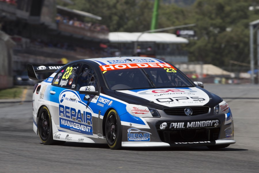 Russell Ingall of Repair Management Australia Racing during the Clipsal 500, Event 01 of the 2014 Australian V8 Supercars Championship Series at the Adelaide Street Circuit, Adelaide, South Australia, March 01, 2014.
