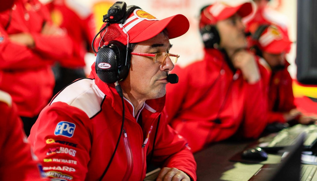 Lacroix in his role as competition director at DJR Team Penske
