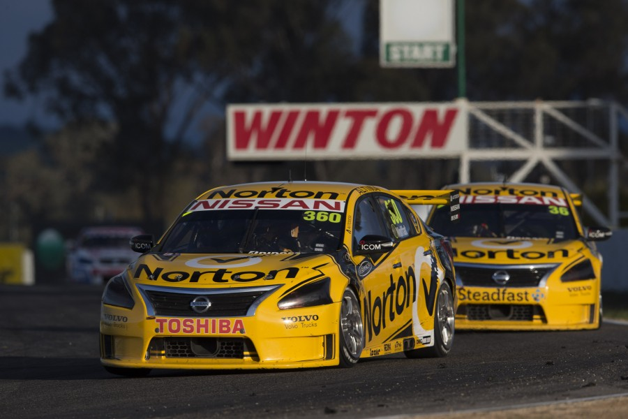 Nissan took a one-two in its first season, with James Moffat and Michael Caruso at Winton