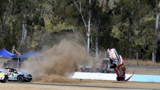 High-speed rollover in SuperUtes finale