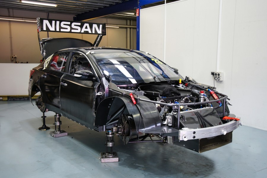 Caruso's new Nissan during its build