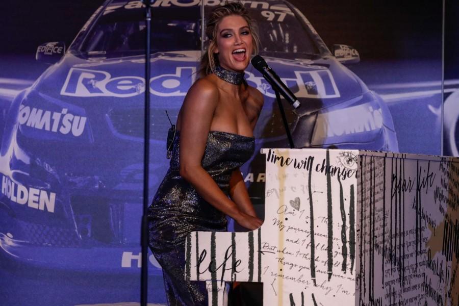 Goodrem performing at last year's Gala Dinner Awards.