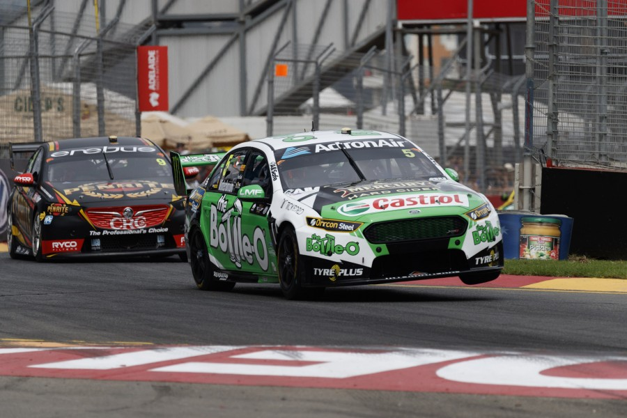 Winterbottom riding the kerbs in Adelaide
