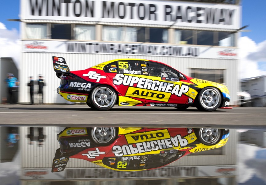 Chaz Mostert of Supercheap Auto Racing during the Winton SuperSprint,  at the Winton Motor Raceway, Winton, Victoria, May 20, 2017.