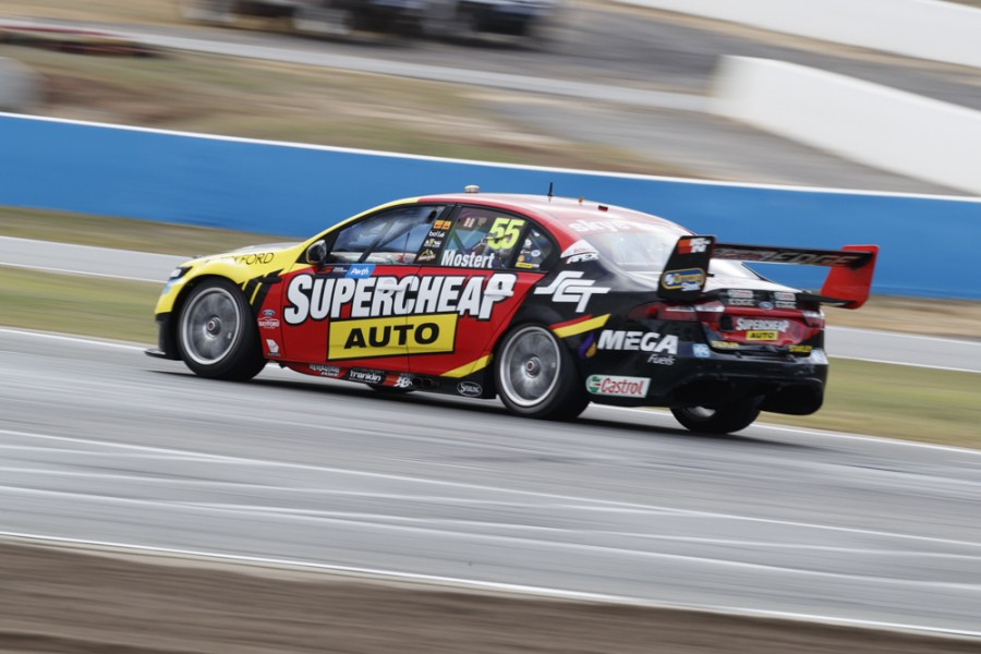 Craig Lowndes performs during the fifth stop of the Supercars Championship in Perth, Western Australia, on May 4th, 2018.