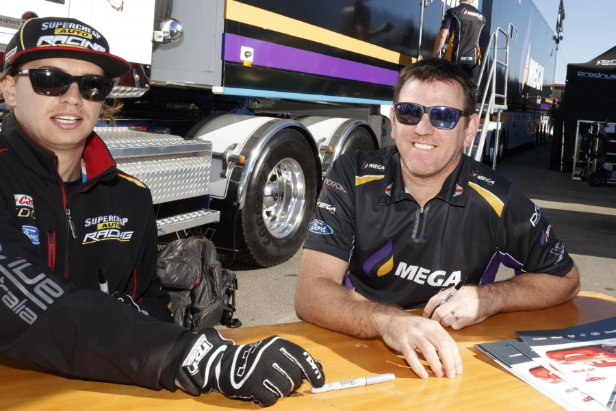 Jason Bright of Mega Racing during the Coates Hire Ipswich SuperSprint,  at the Queensland Raceway, Ipswich, Queensland, July 29, 2017.