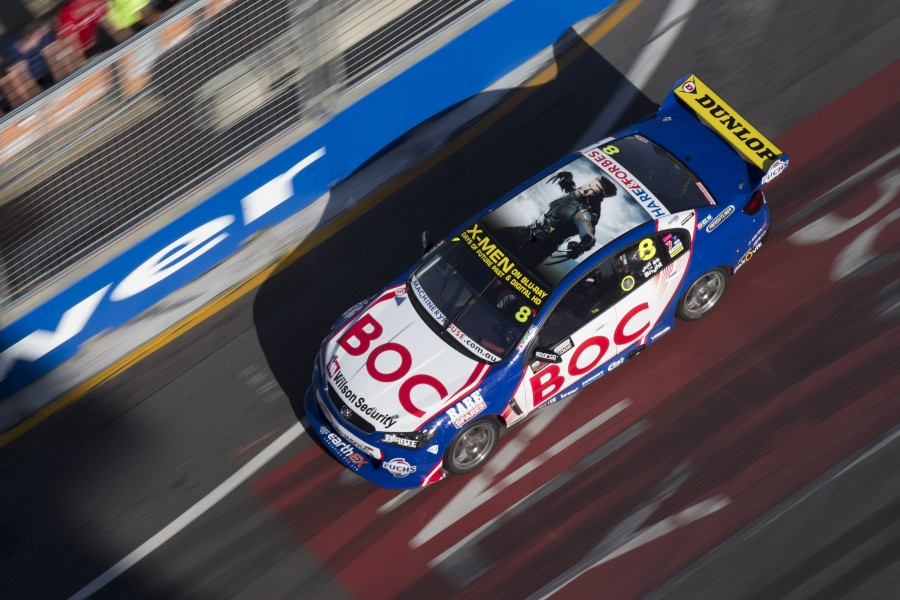 Jason Bright and Andrew Jones of Brad Jones Racing during the Castrol EDGE Gold Coast 600, Event 12 of the 2014 Australian V8 Supercar Championship Series at the Gold Coast Street Circuit, Gold Coast, Queensland, October 24, 2014.