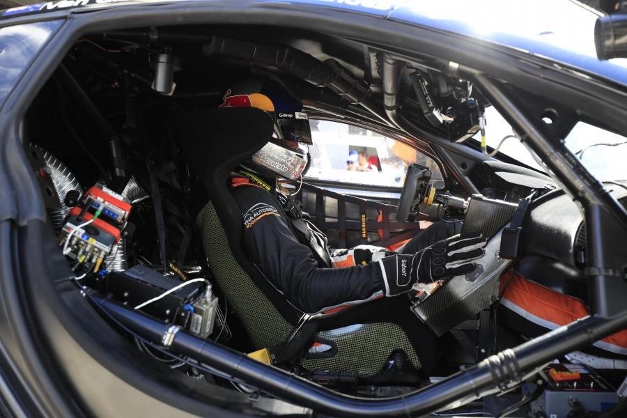 Van Gisbergen aboard the troublesome McLaren