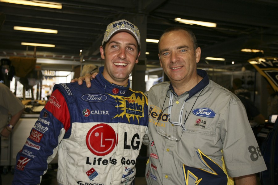 Whincup won the Clipsal 500 on his firs race weekend with Triple Eight