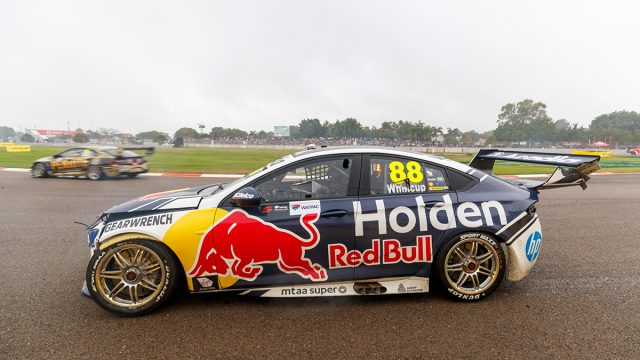 Whincup Commodore escapes structural damage